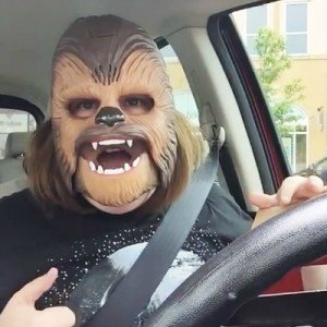 Chewbacca Mask Lady - A still from the video