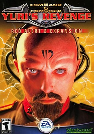 Command & Conquer: Yuri's Revenge - Yuri's Revenge cover art, with Udo Kier portraying the games antagonist Yuri.
