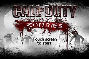Call of Duty: Zombies - Call of Duty: Zombies title screen