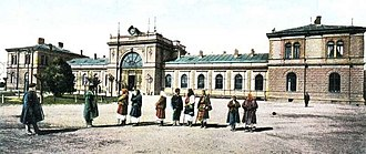 Sofia Central Station - The old building of the Central Railway Station completed in 1888