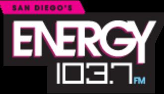 "KSON (FM) - Logo as ""Energy 103.7"""