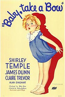 <i>Baby Take a Bow</i> 1934 American comedy drama film directed by Harry Lachman