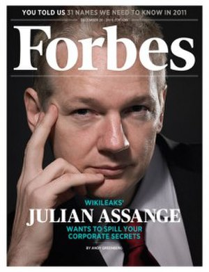 Forbes - Cover for December 20, 2010, featuring Julian Assange