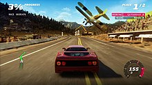 Forza Horizon Features An Updated Version Of The Motorsport 4 Engine Here A Ferrari F40 Races Biplane In Point To Race