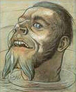 Fritz Lang (artist) - Self portrait