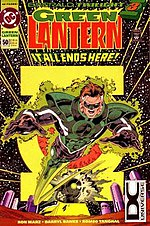 Cover to Green Lantern vol. 3, #50 (March 1994). Hal Jordan becomes Parallax. Art by M.D. Bright.
