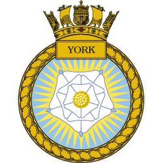 HMS York (D98) - Image: HMS York badge
