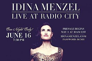Idina Menzel: Live at Radio City - Promotional poster of the concert