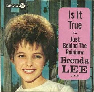 Is It True (Brenda Lee song) - Image: Is It True (Brenda Lee song)