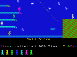 Jet Set Willy - Miner Willy in the Cold Store From the ZX Spectrum version