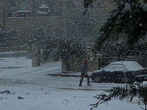 Geography of Jordan - Snow in Amman.