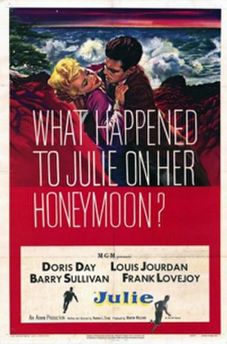 Julie (1956 film) - Theatrical release poster