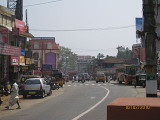 Kozhencherry town in Kerala, India