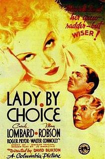 <i>Lady by Choice</i> 1934 film by David Burton