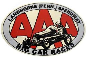 Langhorne Speedway - Image: Langhorne race sign