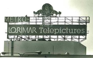 The MGM sign being dismantled once Lorimar took control of the studio lot MGM Studio Takeover.jpg
