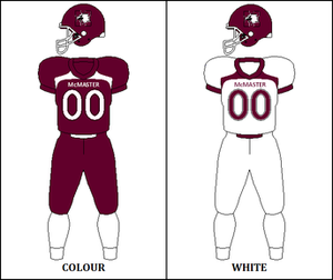 McMaster Marauders football - Image: Mc Master Marauders Uniform