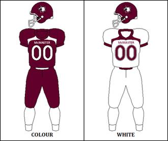 McMaster Marauders football - Image: Mc Master Marauders Uniform