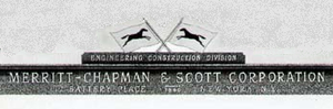 Merritt-Chapman & Scott - Logo from 1938 ad