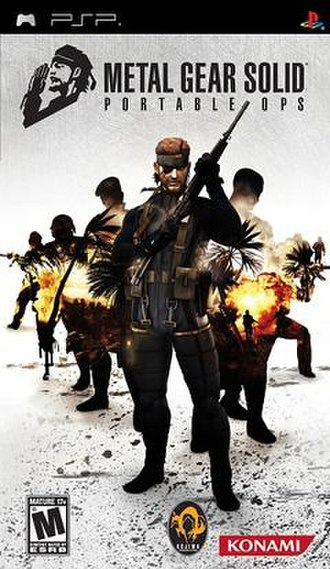 Metal Gear Solid: Portable Ops - Image: Metal Gear Solid Portable Ops cover