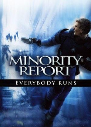 Minority Report: Everybody Runs - Image: Minority Report Everybody Runs Coverart