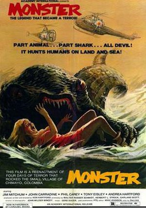"""Monster (1980 film) - Image: Monster aka """"Monstroid, It Came from the Lake"""" poster 1980"""