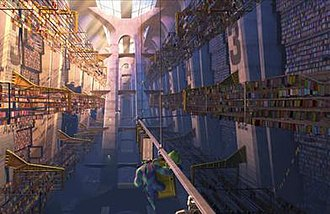 "Monsters, Inc. - The ""door vault"" scene is one of the film's most elaborate sets."