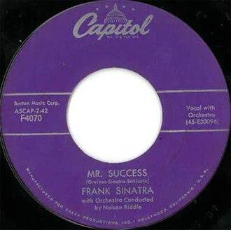 Mr. Success - Image: Mr. Success Frank Sinatra 45 1958 Capitol