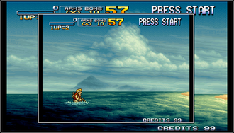 Neo Geo X - Comparison of Neo Geo X and Neo Geo AES resolution.