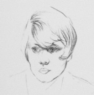 Olive Fraser - a sketch of her from her papers
