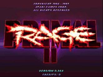 Primal Rage - Image: PR2 titlescreen