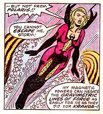 Polaris comics wikipedia polaris in her shiar designed outfit while under the control of erik the red art by dave cockrum and sam grainger publicscrutiny Choice Image