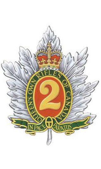 The Queen's Own Rifles of Canada - Cap Badge of The Queen's Own Rifles of Canada