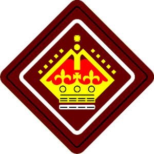 Queen's Scout - An earlier badge of the UK Queen's Scout Award worn prior to 2003