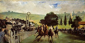 Longchamp Racecourse - Races at Longchamp - Édouard Manet, 1867