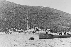 SMS Kronprinz Erzherzog Rudolf - Kronprinz Erzherzog Rudolf c. 1915 as a station ship in Cattaro Bay