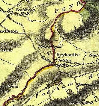 Sabden -  The small community of 1818
