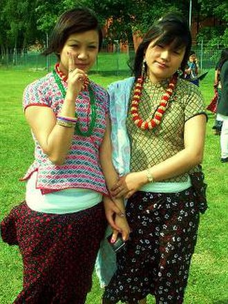 Kirati people - Yakkha women in traditional dresses
