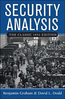 <i>Security Analysis</i> (book) book by Benjamin Graham