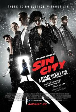 Sin City: A Dame to Kill For - Theatrical release poster
