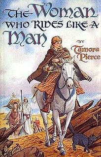 <i>The Woman Who Rides Like a Man</i> book by Tamora Pierce