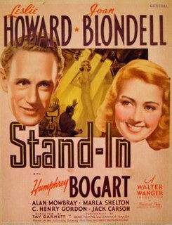 <i>Stand-In</i> 1937 American film directed by Tay Garnett