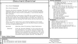 Genera (operating system) - Image: Symbolics document examiner