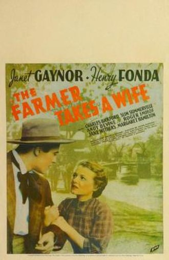 The Farmer Takes a Wife (film) - Theatrical release poster