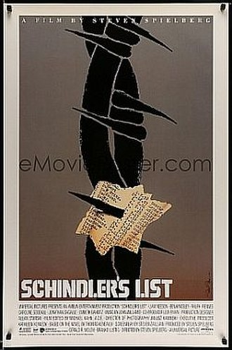 Saul Bass - Schindler's List poster designed by Bass, his last commissioned film poster (not distributed).