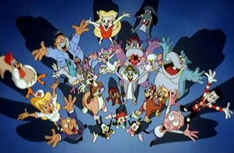 Animaniacs - Animaniacs had a wide cast of characters. Shown here are the majority of the characters from the series.