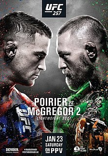 UFC 257 UFC mixed martial arts event in 2021