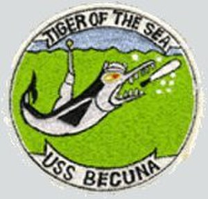 USS Becuna (SS-319) - Image: USS Becuna SS 319 Badge