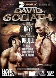 Nikolai Valuev vs. David Haye Boxing competition