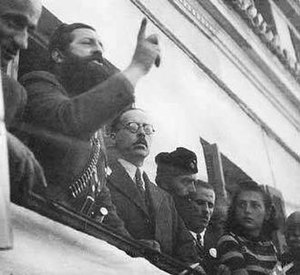 Aris Velouchiotis - Velouchiotis talks in Lamia after the withdrawal of the Axis powers.